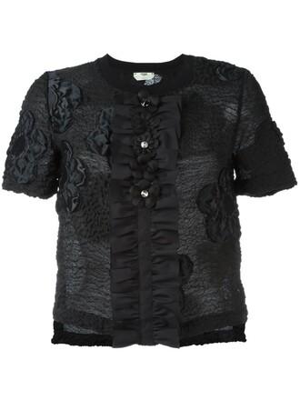 top floral black