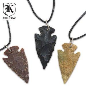 Amazon.com: arrowhead pendant necklace 3 pack: sports & outdoors