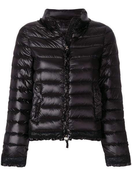 jacket puffer jacket feathers women fit black