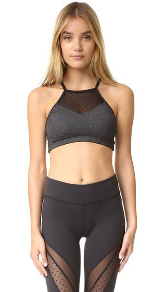 bra mesh grey heather grey underwear