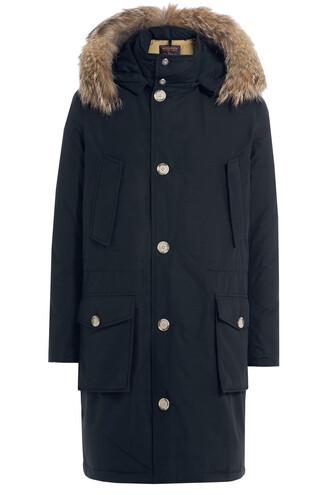 parka fur blue coat