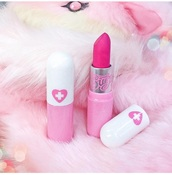 make-up,lipstick,pink lipstick,pink lips,hot pink