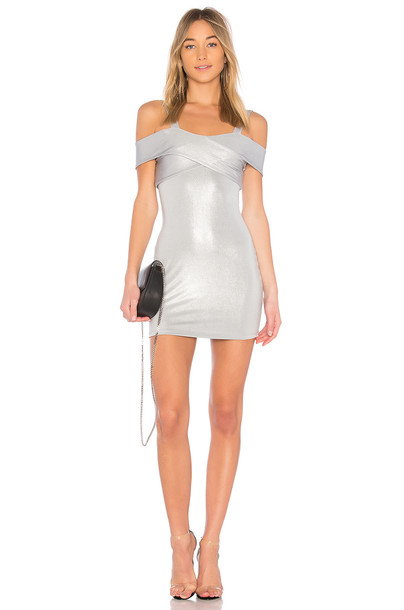 by the way. dress cold metallic silver