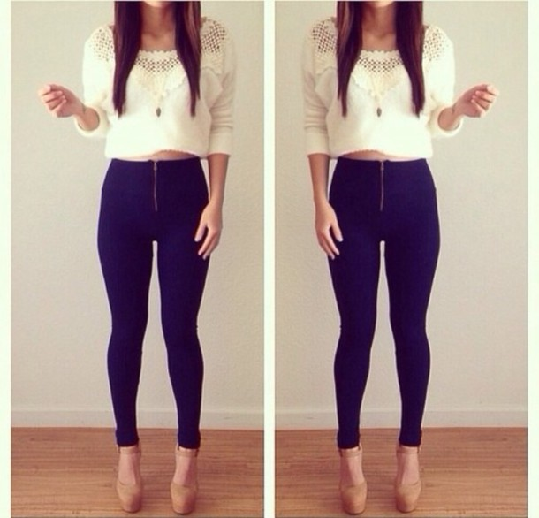 Navy Skinny Jeans - Shop for Navy Skinny Jeans on Wheretoget