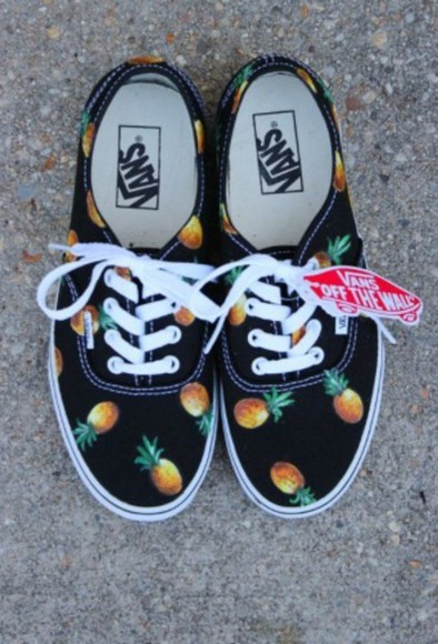 lovely pepa vans vans of the wall ananas pineapple print pineapple shoes shoes grunge shoes