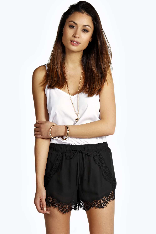 Mariella lace trim shorts