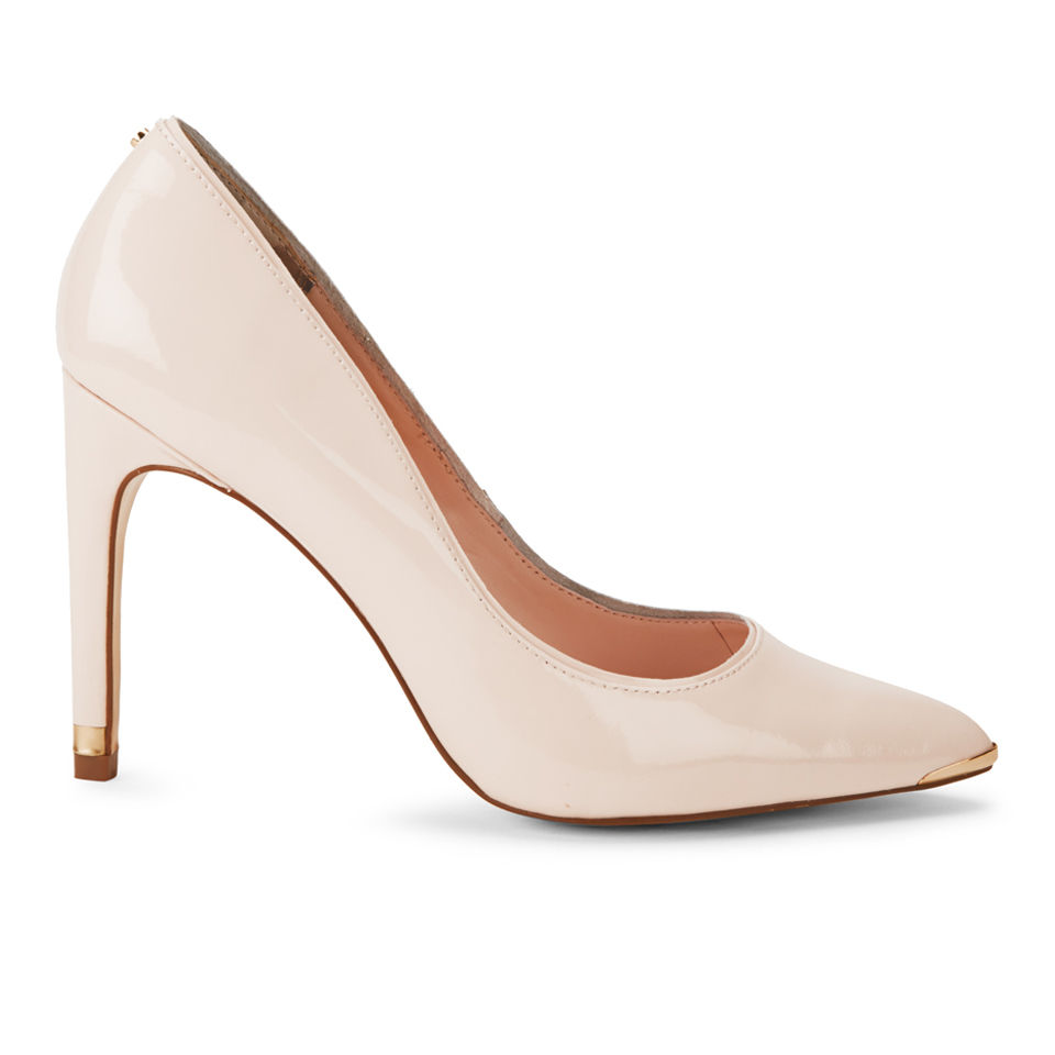 Ted Baker Women's Thaya Patent Leather Court Shoes - Nude 					Clothing - FREE UK Delivery