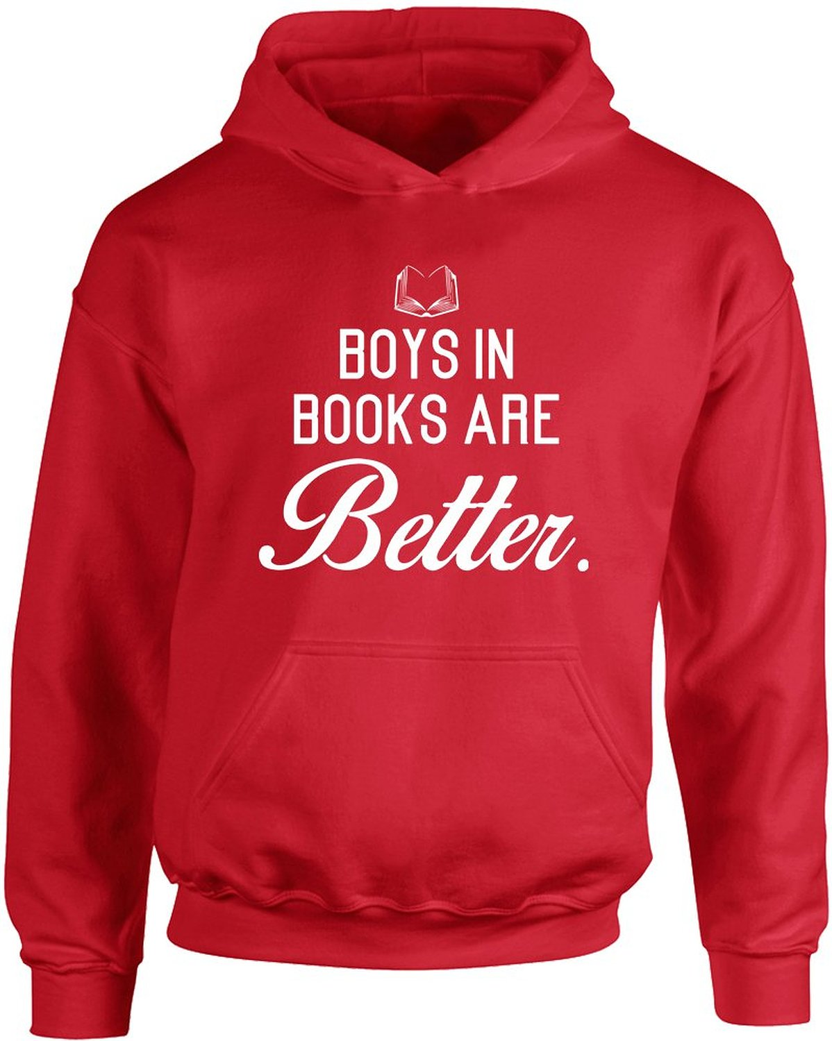 Amazon.com: Boys In Books Are Better , Kids Printed Hoodie: Clothing