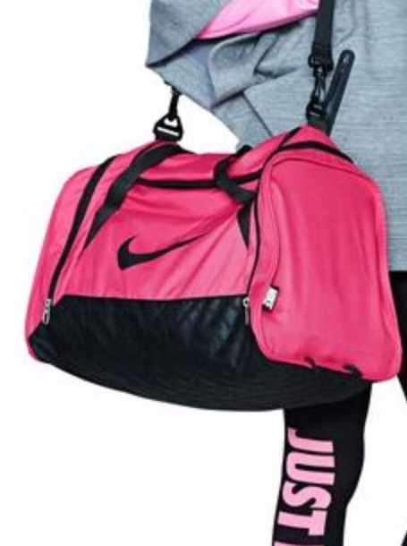 2b6eaa9a27 bag nike dark pink nike sports bag   pink bag black pink duffel bag