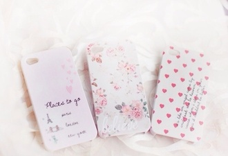 jewels pink white phone cover iphone phone iphone case iphone 5 case floral flowers paris chic indie aztec heart pattern vintage tumblr tumblr outfit tumblr phone case tumblr girl girly cute floral phone case quote on it phone case