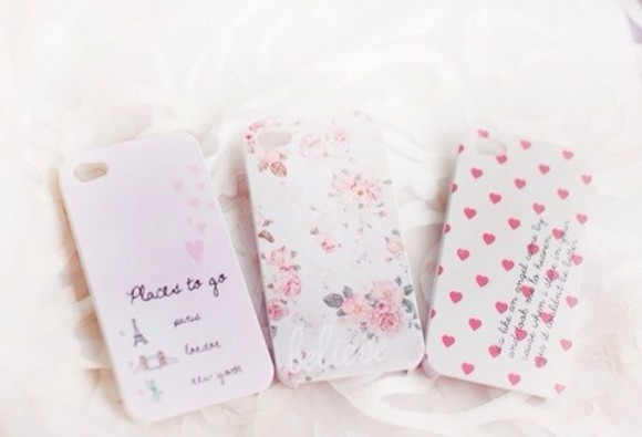 iphone case jewels iphone floral white pink phone phone case iphone 5 case iphone 5s case iphone 5c case flower paris chic indie aztec hearts patterns vintage tumblr tumblr outfit tumblr phone case tumblr girl girly cute