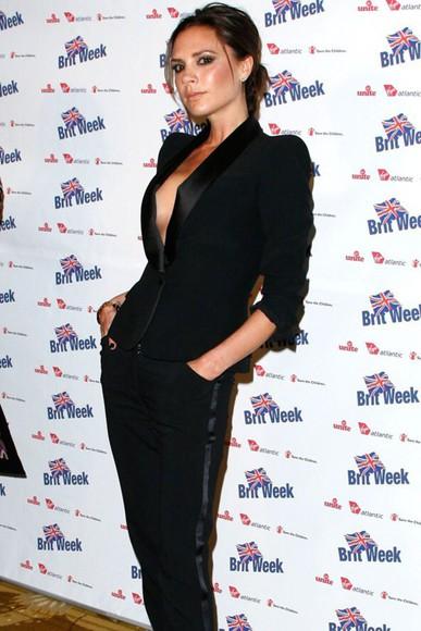 victoria beckham silk jumpsuit tuxedo