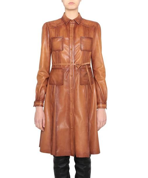 Valentino dress shirt dress leather