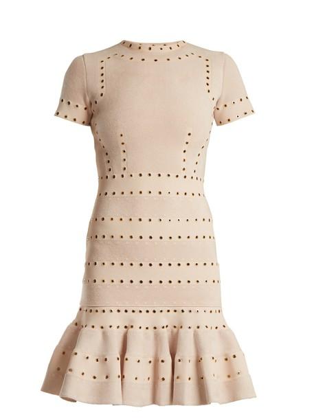 Alexander Mcqueen dress mini dress mini embellished light pink light pink