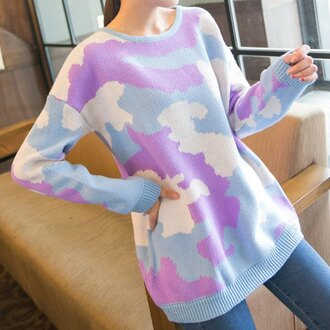 sweater unicorn tie dye pastel warm comfy tumblr rose wholesale