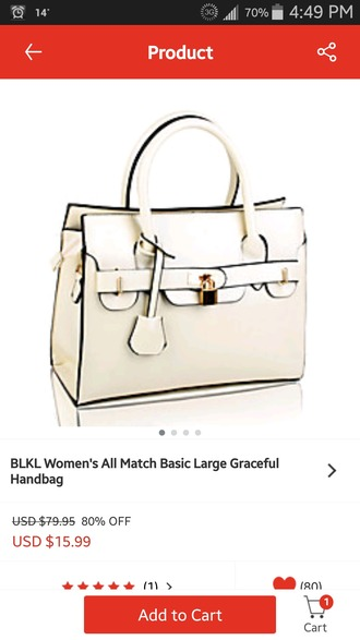 bag white bag purses buckles pocketbook