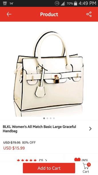 bag white bag purse buckles pocketbook