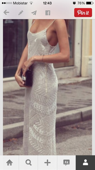 silver embellished maxi dress pll ice ball