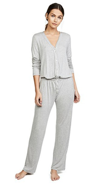 Eberjey jumpsuit grey heather grey