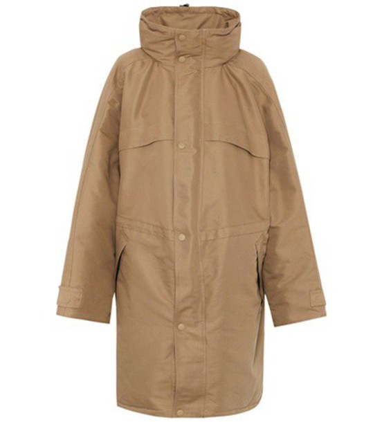 coat cotton brown