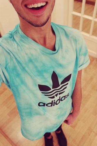 shirt adidas t-shirt dope wishlist tie dye mens shirt menswear dopeshelooks instagram clothes mens t-shirt