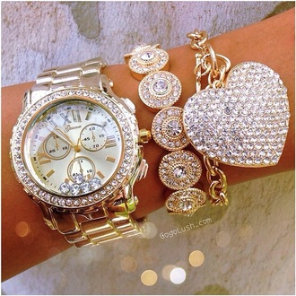 jewels gold watch gold bracelet jewelry bling bracelets stacked bracelets gold