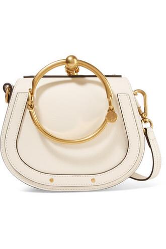 bag shoulder bag leather suede