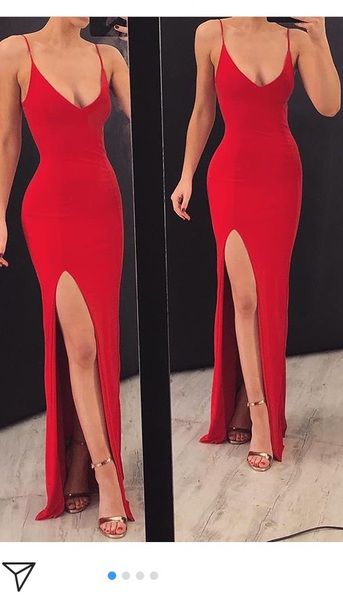 dress red dress floor length dress