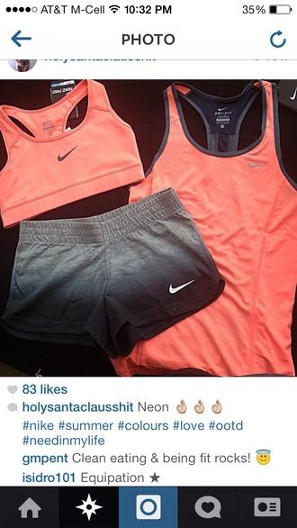 nike tank top sportswear sports bra shorts