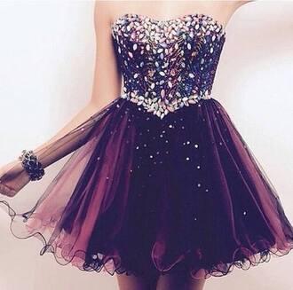 dress glitter glitter dress purple purple dress prom dress prom sparkly dress sparkly cute adorable