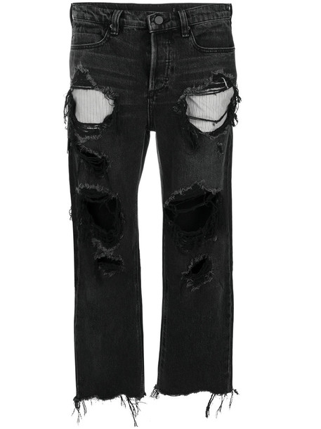 T by Alexander Wang jeans cropped jeans cropped women cotton black