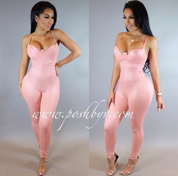 jumpsuit pink pink jumpsuit tight