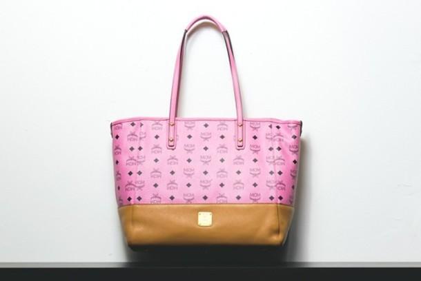 bag mcm pink