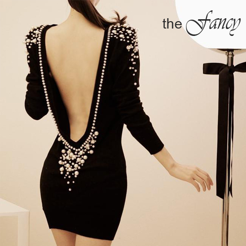 Sexy black dress Long Sleeve backless bodycon mini casual elegant party evening club wear women new fashion winter 2013 novelty-in Dresses from Apparel & Accessories on Aliexpress.com