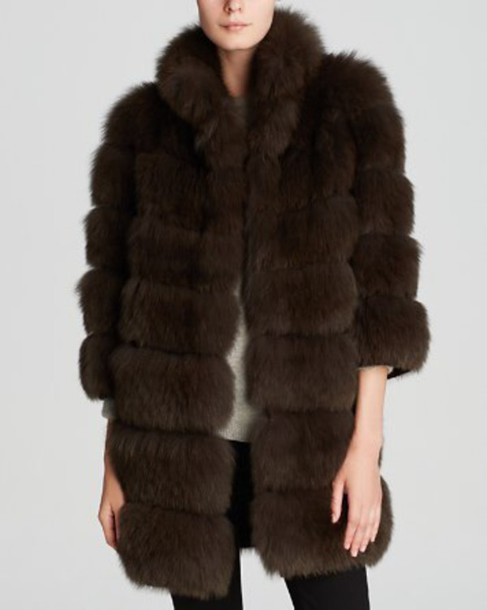 coat maximilian brown fox fur