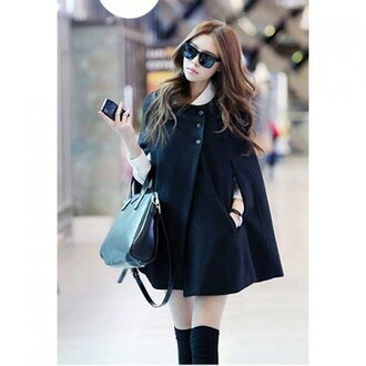 coat black black coat lolita cute asian fashion fall outfits winter outfits winter coat streetwear streetstyle