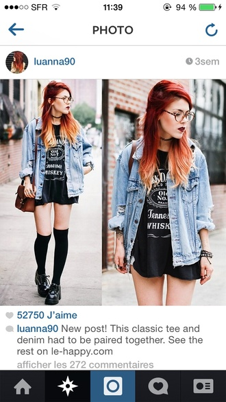 jacket denim jacket oversized luanna perez le happy