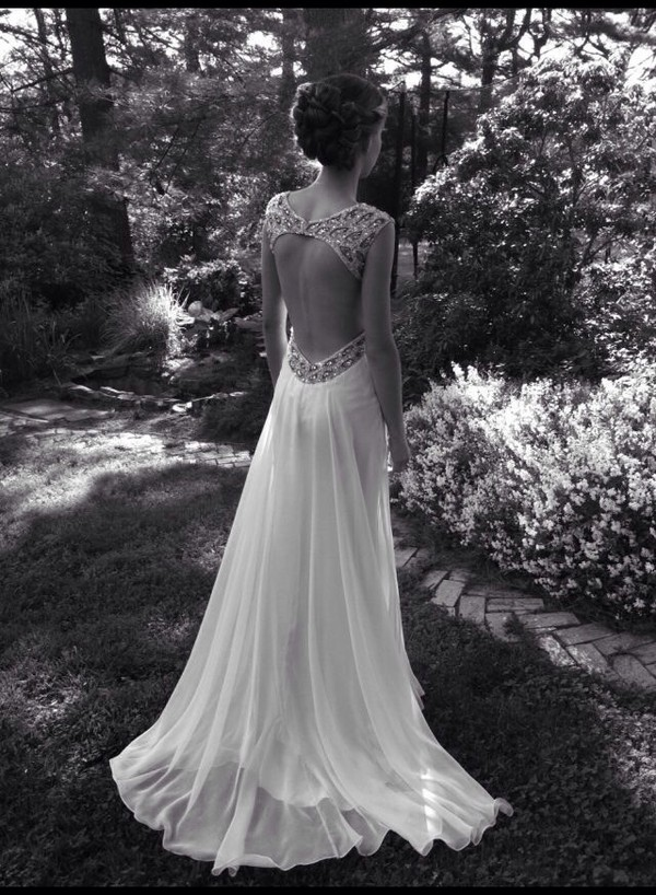 dress long dress open back backless prom dress