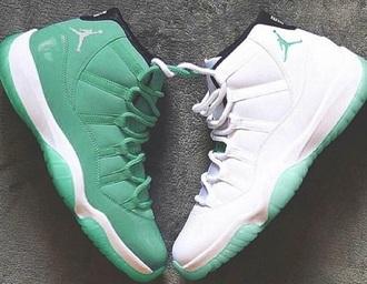 shoes patent leather shiny sexy air jordan green white jordans