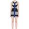 Striped elastic bandage bodycon dress