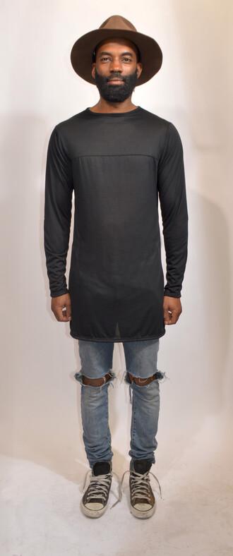 hipster t-shirt long sleeves converse streetstyle bullsofsummer trendy streetwear urban clothing bmx distressed jeans t-shirt dress ninja goth tumblr boy skater