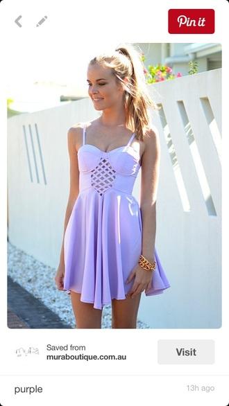 dress skater dress purple dress lavender dress