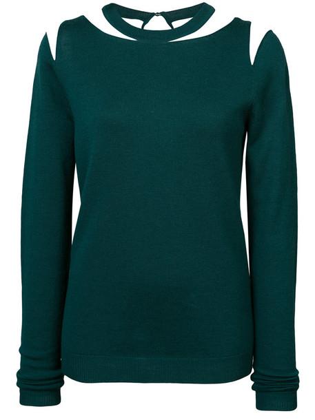 oscar de la renta sweater women wool green