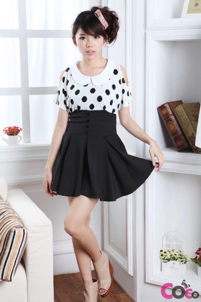 Korean Fashion High Waist Skirt