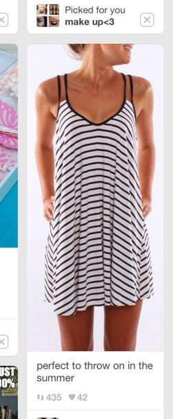 dress summer dress summer striped dress black and white dress black dress white dress