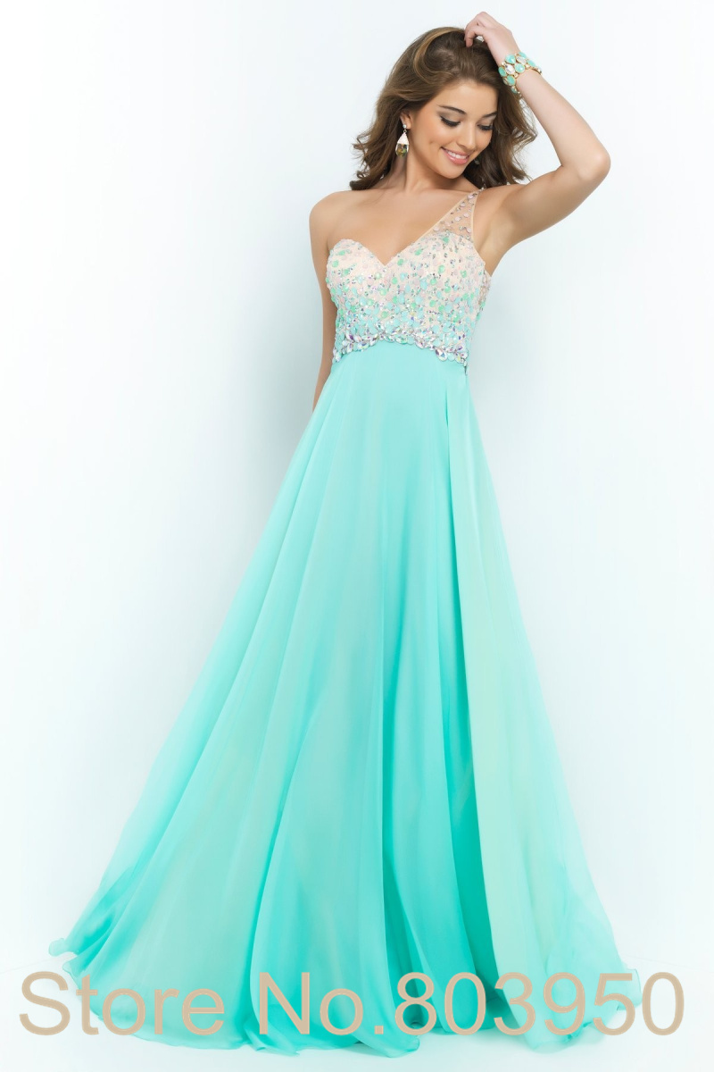 Aliexpress.com : Buy Stunning One Shoulder Prom Dress Ombre Beads ...