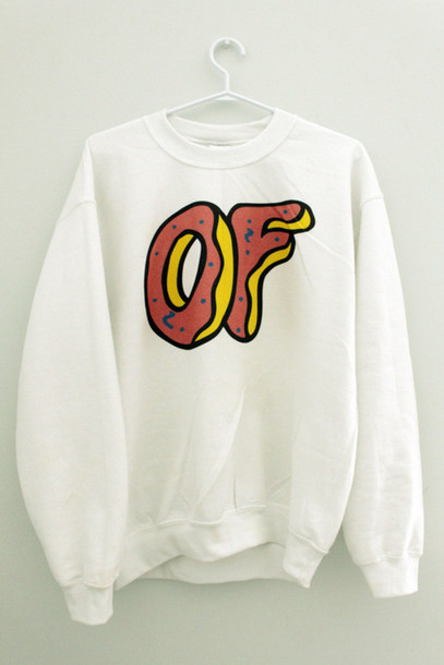 sweater of odd future white sweatshirt shirt