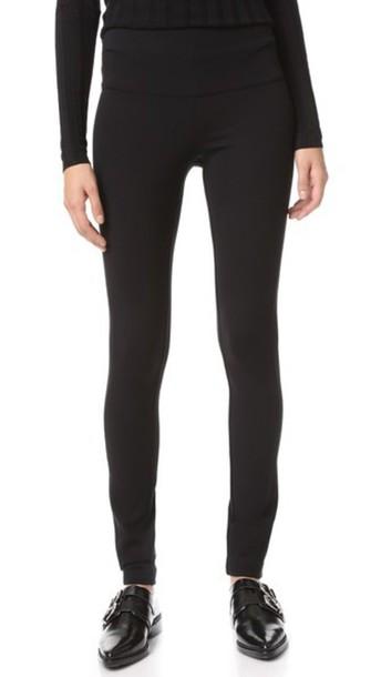 Veronica Beard Harlequin High Waist Skinny Pants - Black