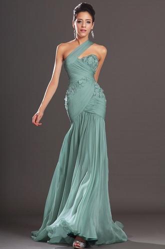 dress green dress prom dress prom gown prom shoes prom gown pastal lace dress chiffon beautiful