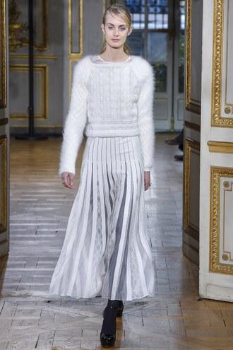 skirt maxi skirt sweater pleated pleated skirt paris fashion week 2017 fashion week 2017 zuhair murad